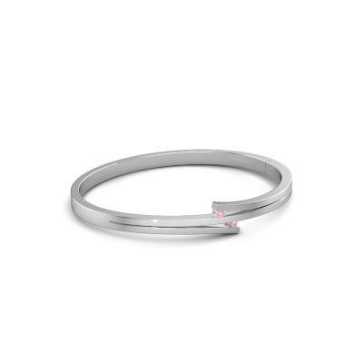 Foto van Armband Roxane 950 platina roze saffier 2 mm