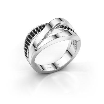 Ring Amira 925 silver black diamond 0.414 crt