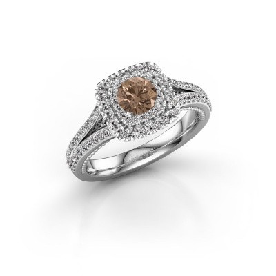 Foto van Verlovingsring Annette 585 witgoud bruine diamant 1.072 crt