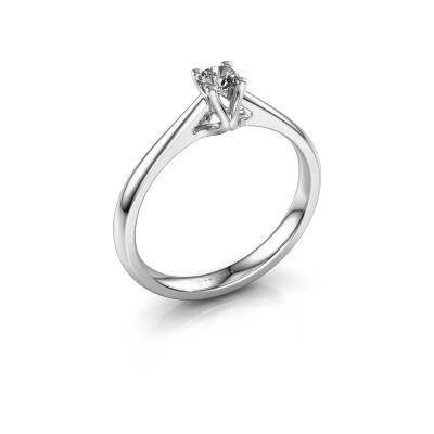 Bague de fiançailles Janna 1 950 platine diamant synthétique 0.15 crt