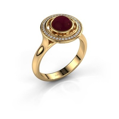 Picture of Ring Salima 585 gold garnet 6 mm