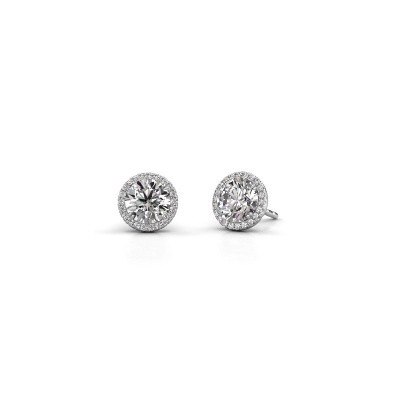 Earrings Seline rnd 950 platinum diamond 2.20 crt