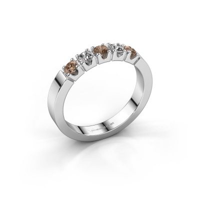 Verlovingsring Dana 5 950 platina bruine diamant 0.50 crt