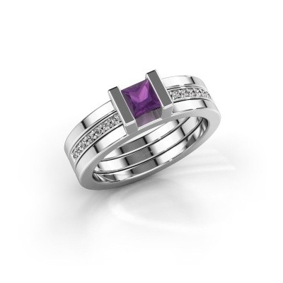 Picture of Ring Desire 585 white gold amethyst 4 mm