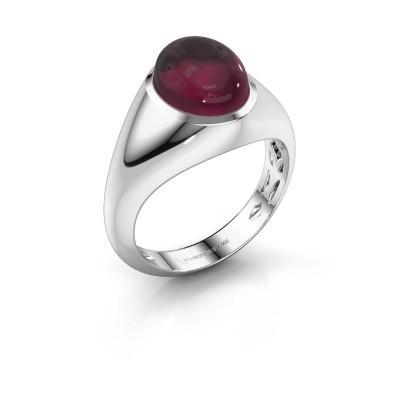 Ring Zaza 925 zilver rhodoliet 10x8 mm