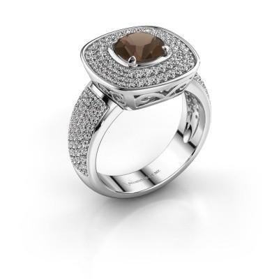 Foto van Ring Eliana 925 zilver rookkwarts 6 mm