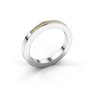 Stackable ring Loes 1 925 silver yellow sapphire 1.1 mm