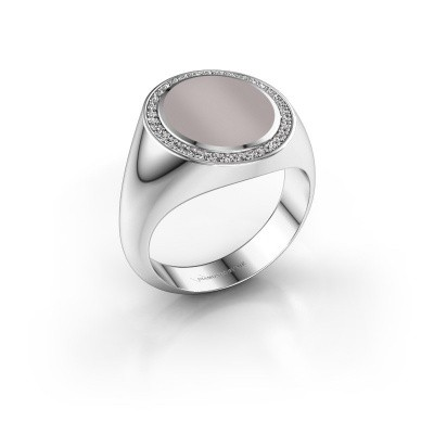 Foto van Zegel ring Adam 3 925 zilver rode lagensteen 13x11 mm