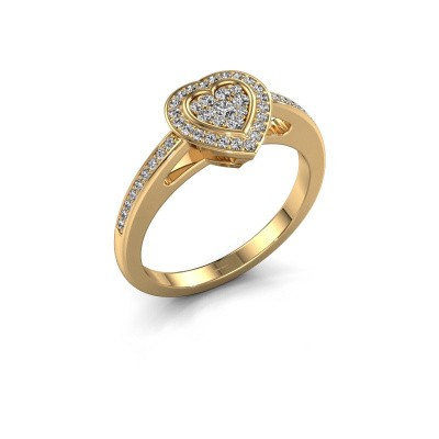 Engagement ring Emmy 375 gold diamond 0.314 crt