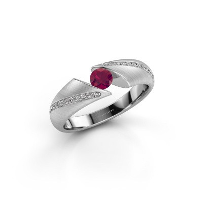 Picture of Ring Hojalien 2 585 white gold rhodolite 4 mm