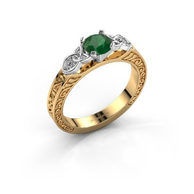 Picture of Engagement ring Gillian 585 gold emerald 5 mm