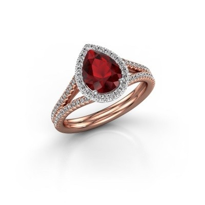 Picture of Engagement ring Elenore 2 585 rose gold ruby 8x6 mm