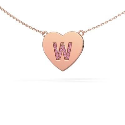 Foto van Letter hanger Initial Heart 375 rosé goud