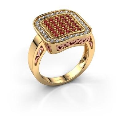 Foto van Ring Beatrice 585 goud robijn 1.3 mm