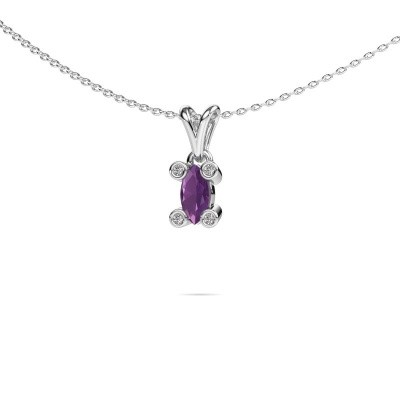 Picture of Necklace Cornelia Marquis 925 silver amethyst 7x3 mm