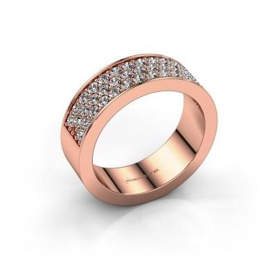 Ring Lindsey 6 375 rosé goud diamant 0.82 crt