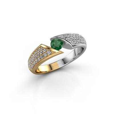 Foto van Ring Hojalien 3 585 goud smaragd 4 mm