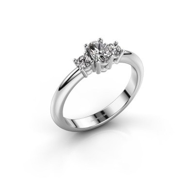 Foto van Aanzoeksring Karie 950 platina lab-grown diamant 0.39 crt