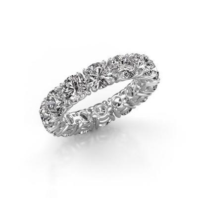 Foto van Ring Vivienne 5.0 585 witgoud diamant 7.00 crt