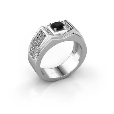 Men's ring Marcel 375 white gold black diamond 1.14 crt