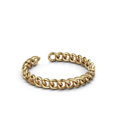 Cuban link armband ±9 mm 375 goud
