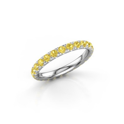 Picture of Ring Jackie 2.3 950 platinum yellow sapphire 2.3 mm