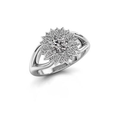 Foto van Verlovingsring Chasidy 1 950 platina diamant 0.50 crt