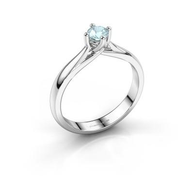 Engagement ring Janne 925 silver aquamarine 4.2 mm