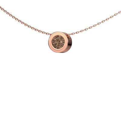 Foto van Hanger Ise 375 rosé goud bruine diamant 0.50 crt