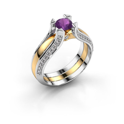 Engagement ring Nadine 585 gold amethyst 5 mm