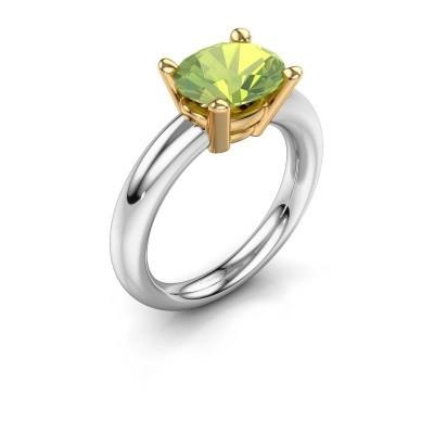 Ring Janiece 585 white gold peridot 10x8 mm