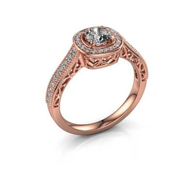 Engagement ring Candi 375 rose gold lab grown diamond 0.775 crt