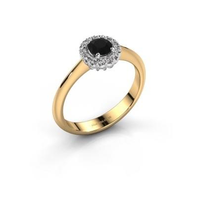 Verlovingsring Anca 585 goud zwarte diamant 0.36 crt