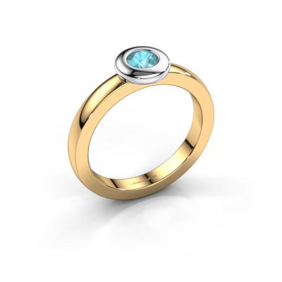 Ring Iris 585 gold blue topaz 4 mm