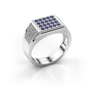 Men's ring Tim 585 white gold sapphire 1.5 mm