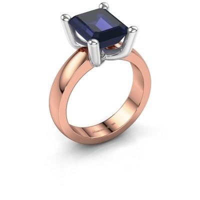Ring Clelia EME 585 rose gold sapphire 10x8 mm