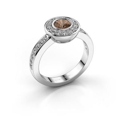 Ring Ivy 585 Weißgold Braun Diamant 0.920 crt