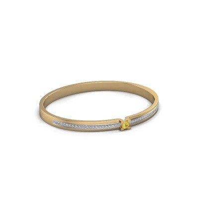 Armband Myrthe 585 goud gele saffier 4 mm