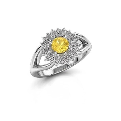 Picture of Engagement ring Chasidy 1 585 white gold yellow sapphire 5 mm