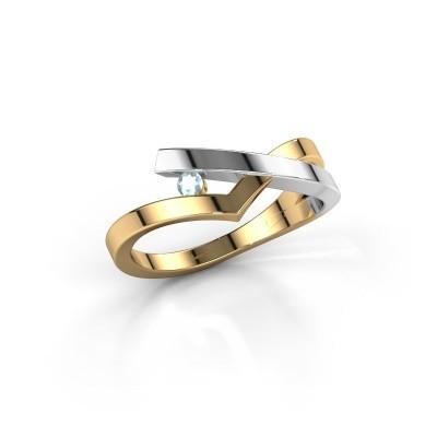 Ring Pamella 585 goud aquamarijn 2.2 mm