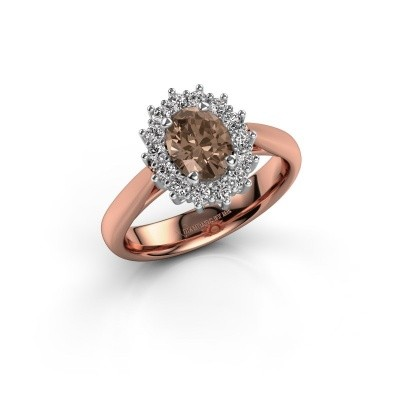 Foto van Verlovingsring Margien 1 585 rosé goud bruine diamant 0.80 crt