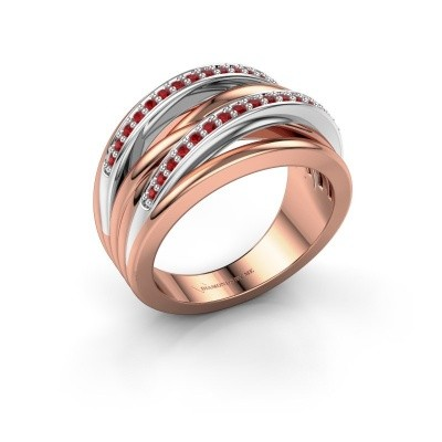 Picture of Ring Annabel 2 585 rose gold ruby 1.2 mm
