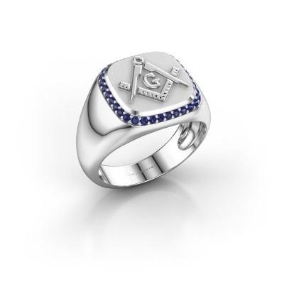 Foto van Heren ring Johan 925 zilver saffier 1.2 mm