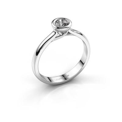 Foto van Verlovings ring Kaylee 925 zilver zirkonia 4 mm