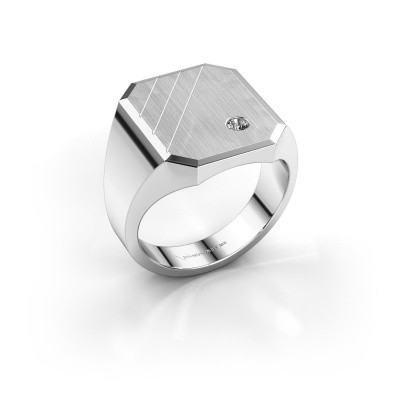Foto van Zegelring Patrick 5 925 zilver lab-grown diamant 0.03 crt