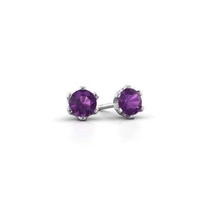 Picture of Stud earrings Fran 925 silver amethyst 4.7 mm