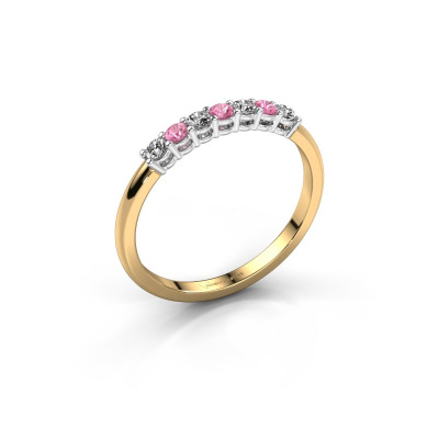 Engagement ring Michelle 7 585 gold pink sapphire 2 mm