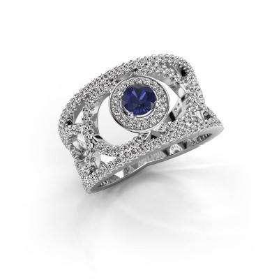Picture of Ring Regina 585 white gold sapphire 4.2 mm
