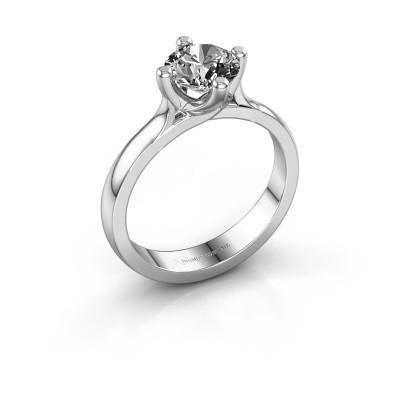 Verlovingsring Eva 585 witgoud diamant 1.00 crt