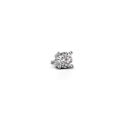 Photo de Boucle d'oreille homme Seth 585 or blanc diamant synthétique 0.50 crt